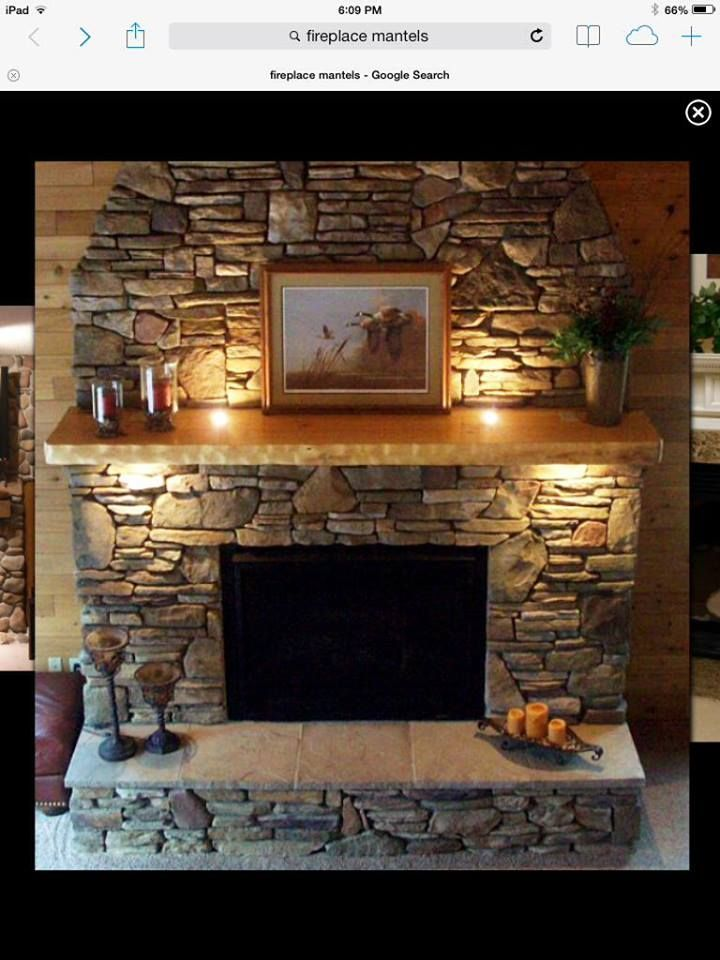 Image result for mantel lighting Image result