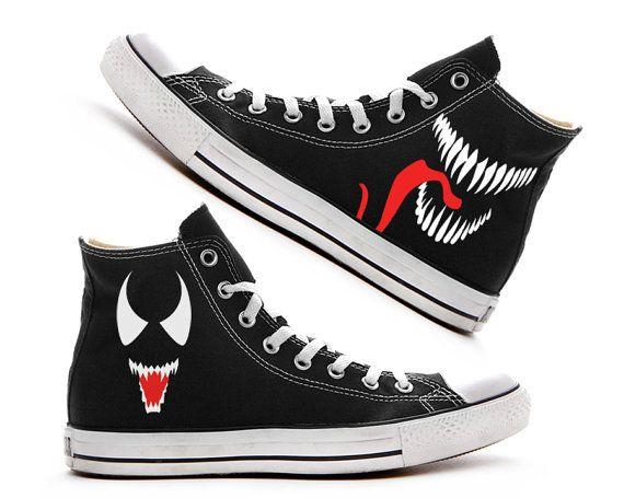 4f5a5297dc81 Venom Custom Converse   Painted Shoes