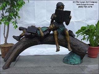 Break Time by Paul Anderson | Bronze Children Statues & Children Sculptures | Unique Gifts for Him or Her | The Large Art Company