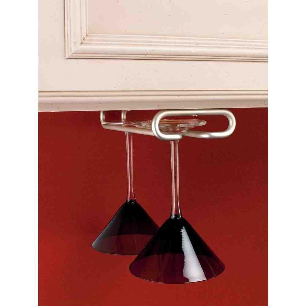 Under Shelf Wine Glass Rack With Images Hanging Wine Glass Rack Stemware Holder Rev A Shelf