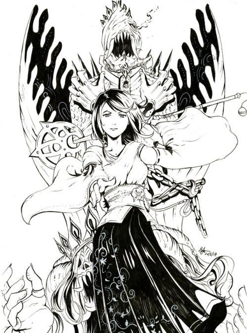 Anima And Yuna From Ffx Final Fantasy Art Final Fantasy X
