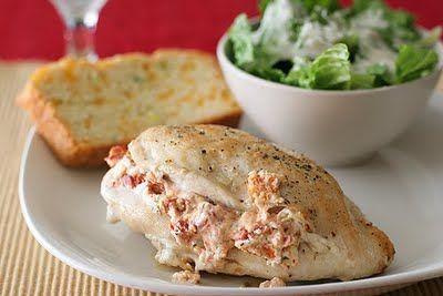 0e1dc68147 Feta Cream Cheese Sundried Tomato Basil STUFFED Chicken Breast - SO GOOD.