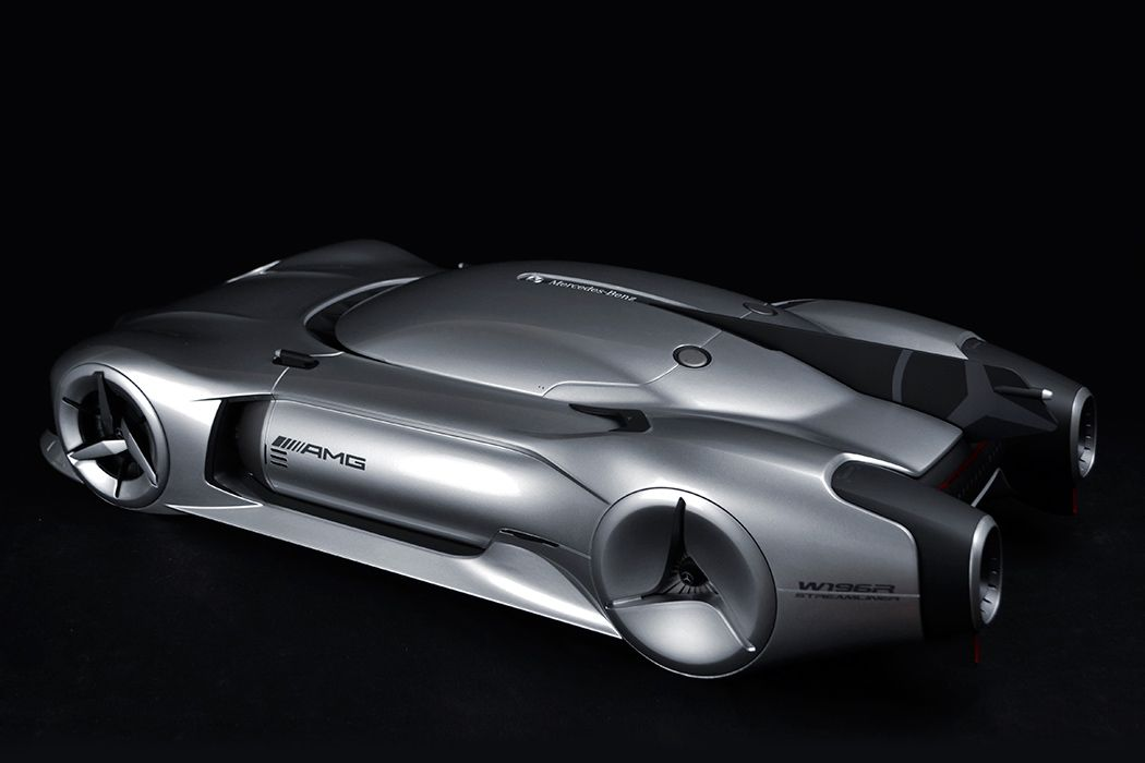 The 2040 mercedes benz w196r streamliner concept pays tribute to the original w196r drawing