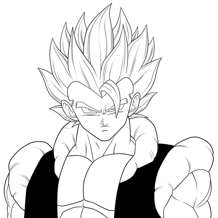 Super Gogeta. :Lineart: by moxie2D.deviantart.com on @DeviantArt ...