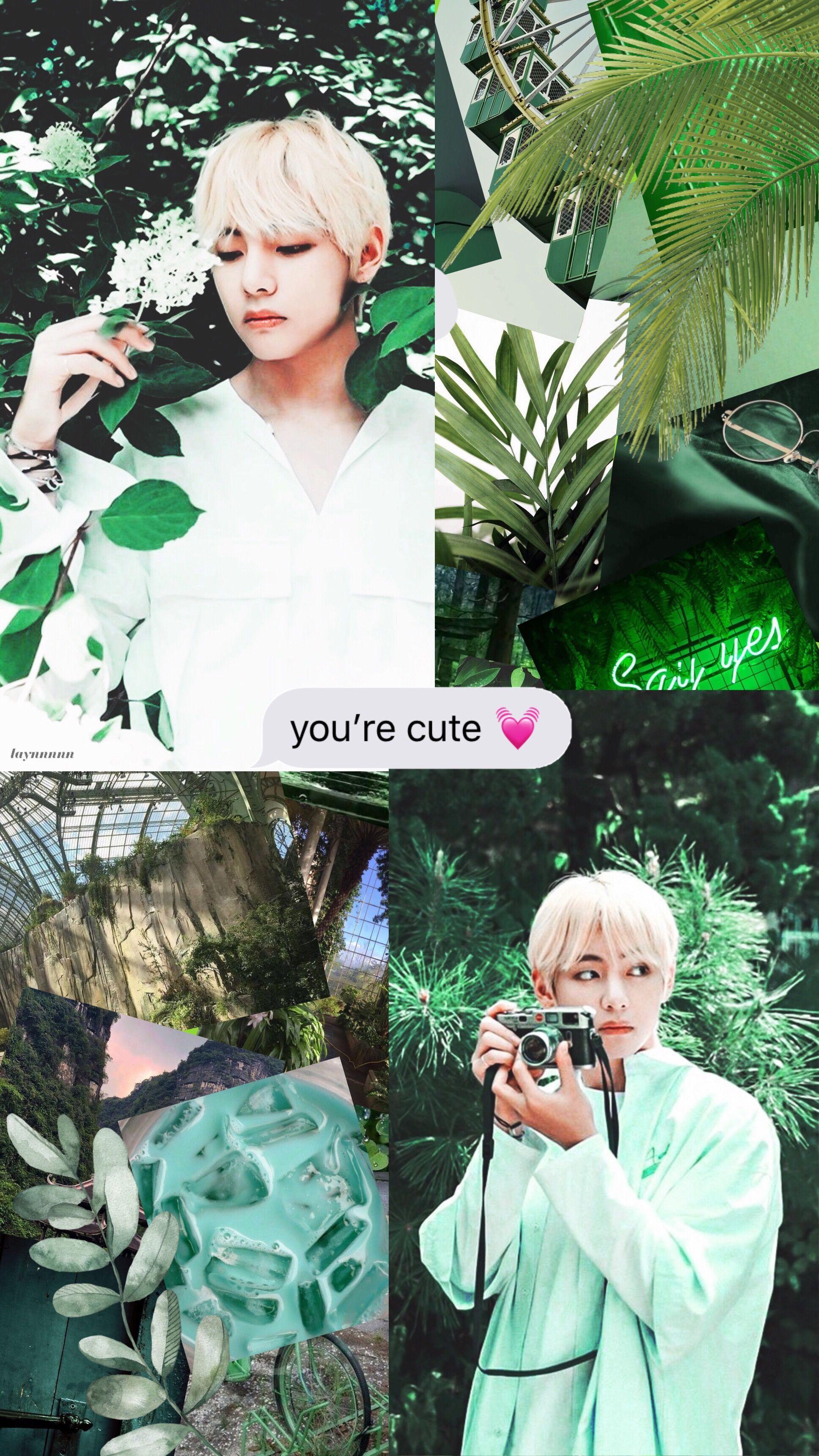 Kim Taehyung Green Nature Edit Taehyung Green Green Nature Taehyung Green Aesthetic