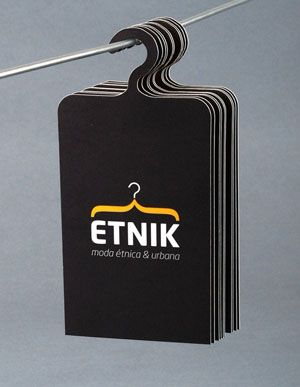 Hanger Business Card Clothing Business Card Fashion Business
