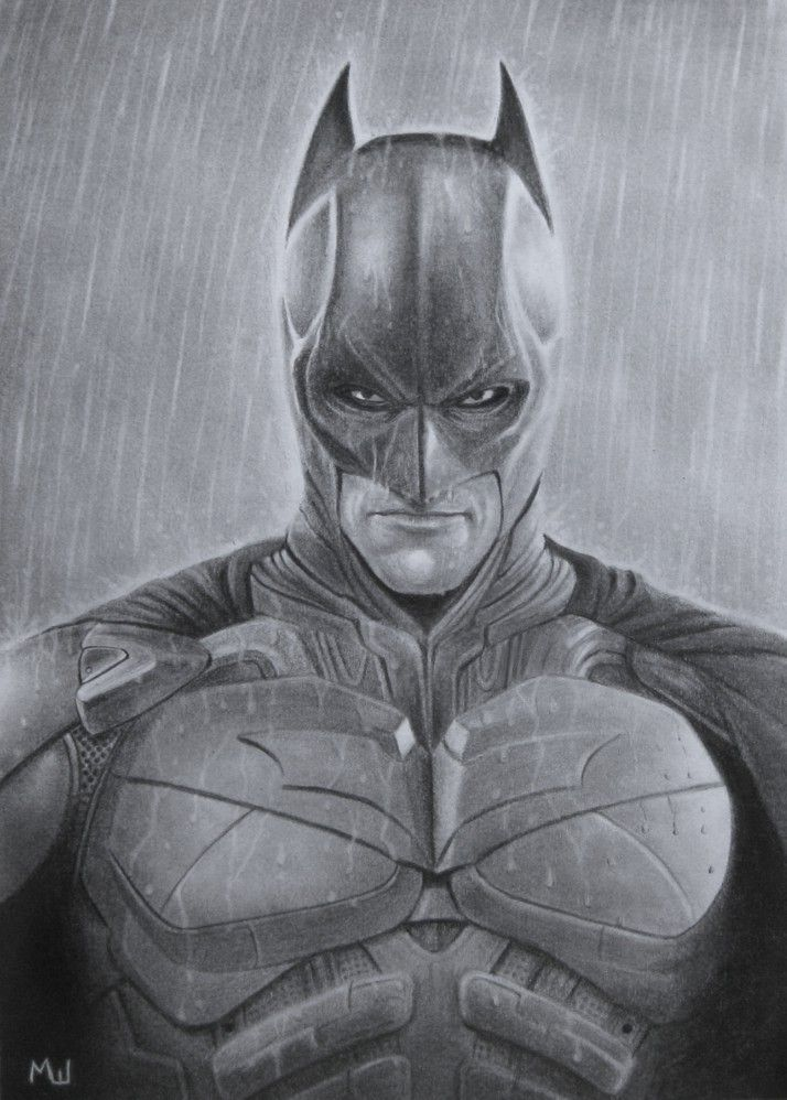 Pencil Drawing Of Batman In The Rain By Miroslav Sunjkic Batman