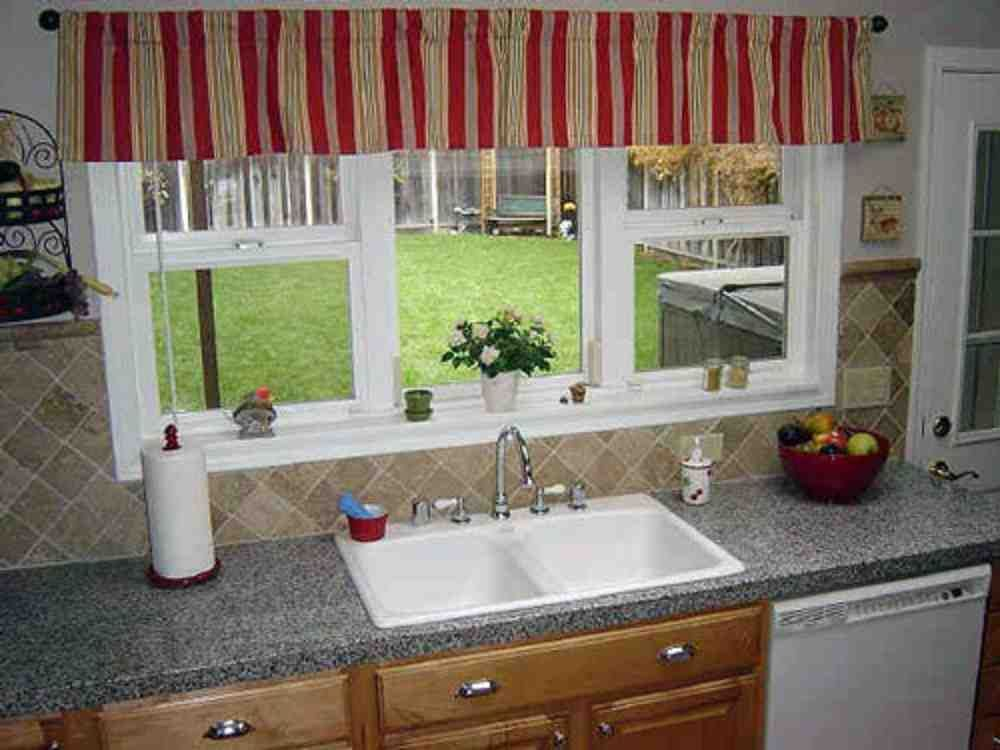Red Kitchen Window Valances Ideas