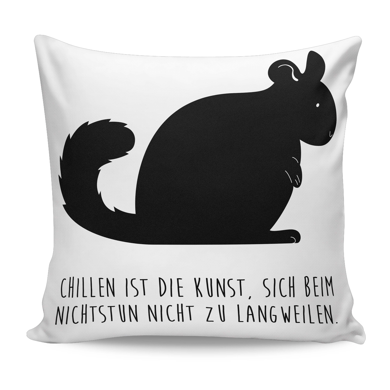 Kissen 40x40 Chinchilla aus Soft-Feel Kissenbezug  Flauschig - Das Original von Mr. & Mrs. Panda.  Ein wunderschöner  Kuscheliger Kissenbezug von Mr. & Mrs. Panda - liebeoll bedruckt, verpackt und verschickt aus unserer Manufaktur im Herzen Norddeutschlands. Das Kissen hat einen Reißverschluss zum Einlegen einer Füllung und die Größe von 40x40 cm. Bitte achtet darauf das ihr noch eine Füllung zum Kissen bestellen müsst.    Über unser Motiv Chinchilla  Chinchillas sind Nagetiere und lieben…