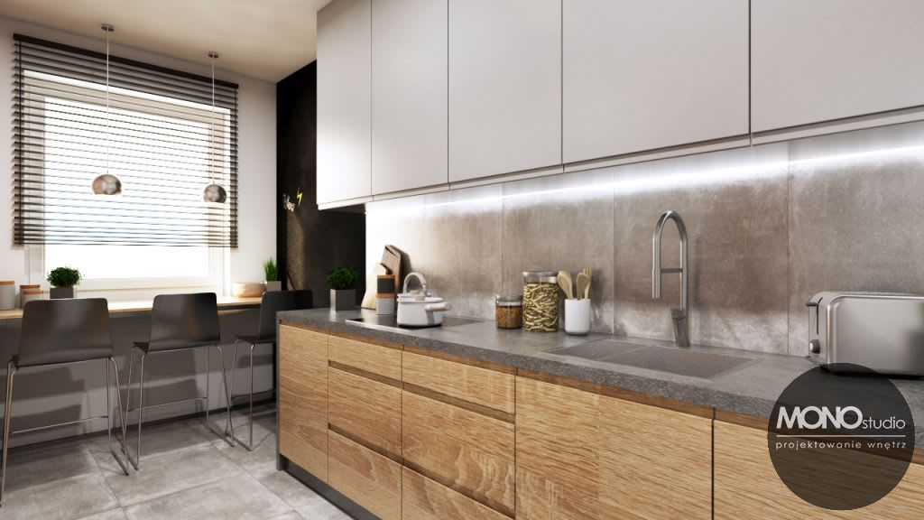 Kuchnia W Nowoczesnym Minimalistycznym Klimacie Monostudio Nowoczesna Kuchnia Homify Home Decor Kitchen Home