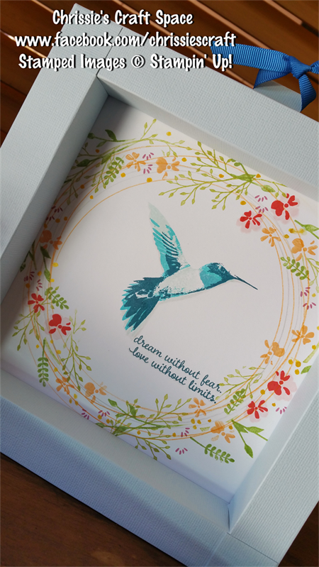 Hummingbird & Wreath Large Shadowbox