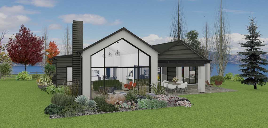Lakeside 4 bedroom house design Landmark Homes builders NZ ...