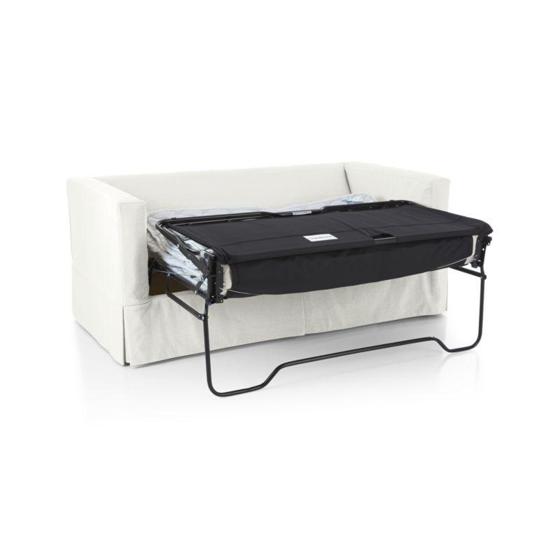 Amazing Willow Modern Slipcovered Full Sleeper Sofa With Air Dailytribune Chair Design For Home Dailytribuneorg