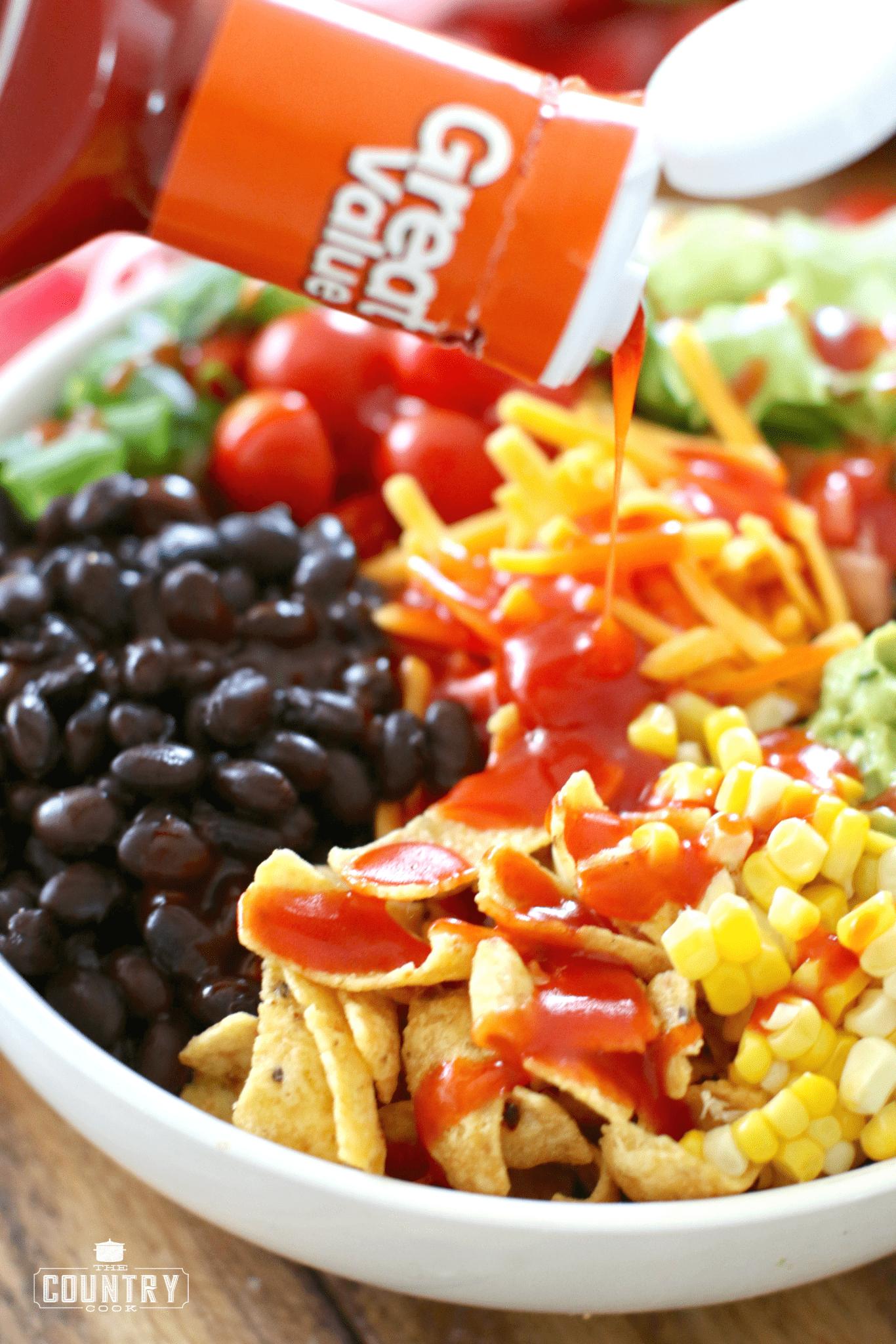 Veggie Frito Taco Salad #tacosalad