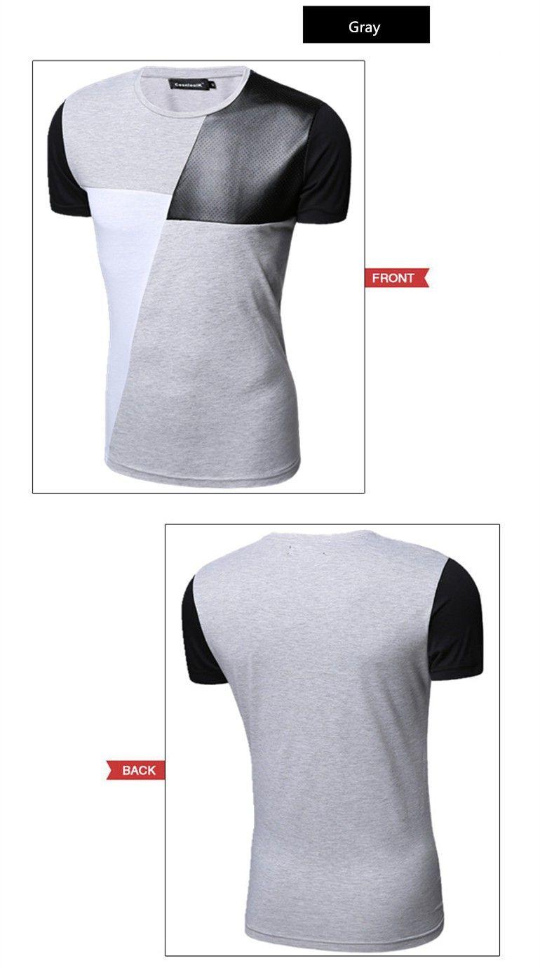 8 diseños para hombre T Shirt Slim Fit cuello de equipo hombres camiseta de manga  corta da5ae2afbdcb7