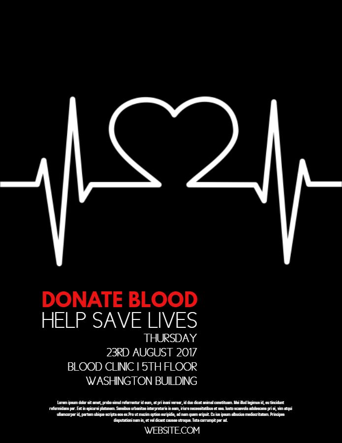 blood drive campaign flyer design template campaigning and