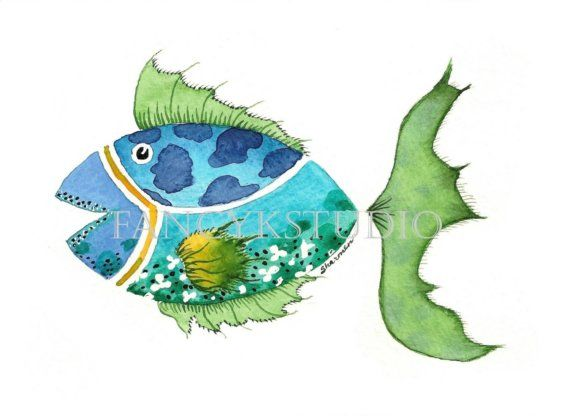 753 FISH 8x10 Limited Edition Fine Art print by fancykstudio, $15.00