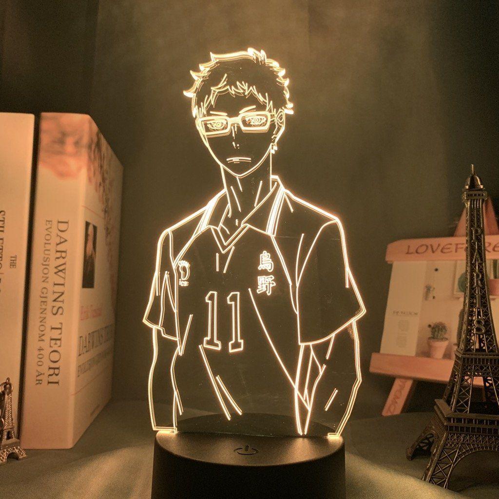 Kei Tsukishima Led Anime Lamp Haikyuu Otaku Lamps In 2020 Anime Decor Anime Anime Scenery Wallpaper