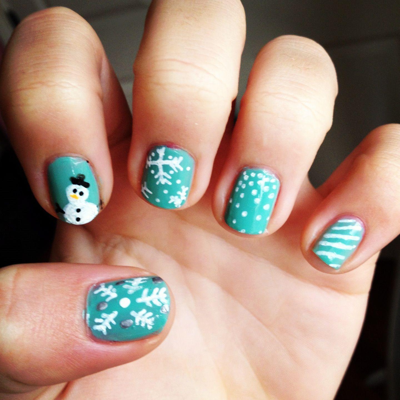 Winter nail design | Nails | Pinterest | Winter nails, Snow nails ...
