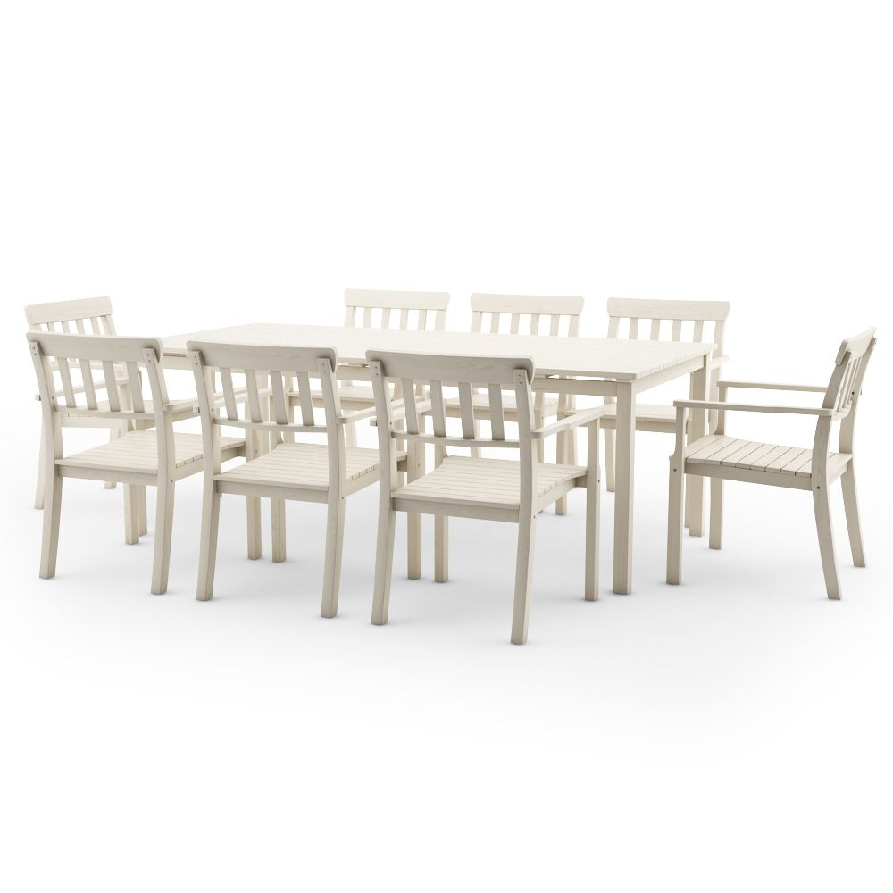 Free 3d Model Of Ikea Angso Outdoor Furnitures Series Set Of Six Armchairs  And Table,