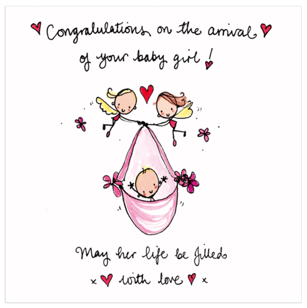 new baby wishes card