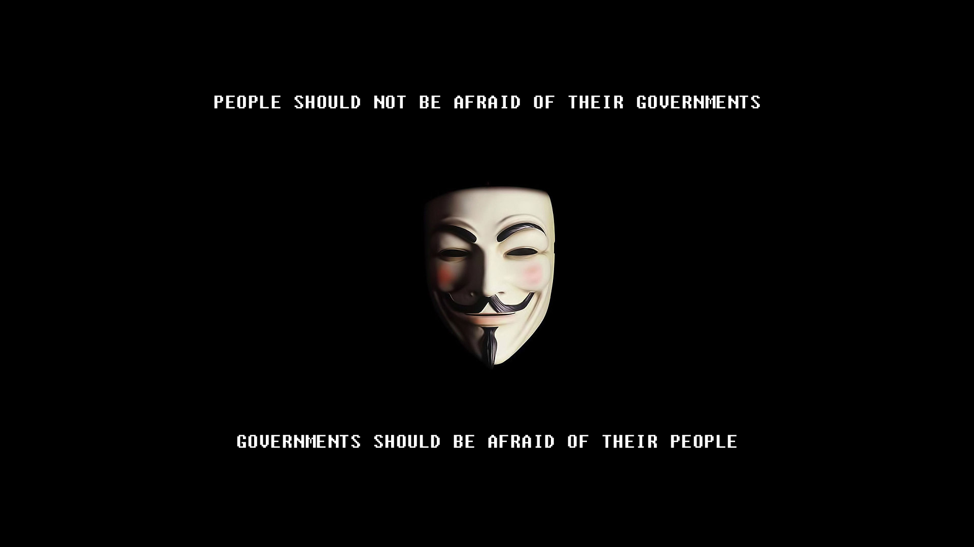 People Should Not Be Afraid Of Their Governments V For Vendetta 1920x1080 V For Vendetta Interesting Quotes Insightful Quotes