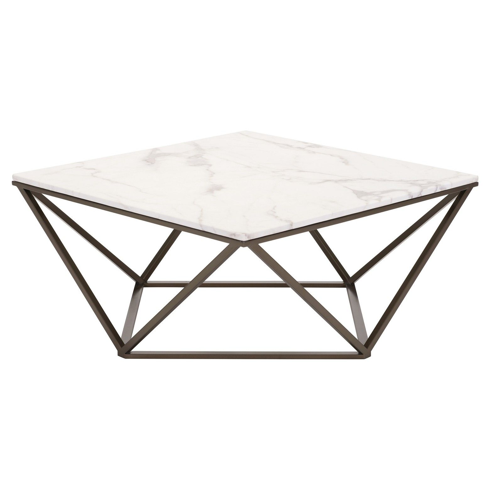 Modern Faux Marble 36 Coffee Table Antique Brass Zm Home Marble Top Coffee Table Faux Marble Coffee Table Contemporary Coffee Table