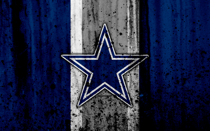 Download wallpapers 4k, Dallas Cowboys, grunge, NFL