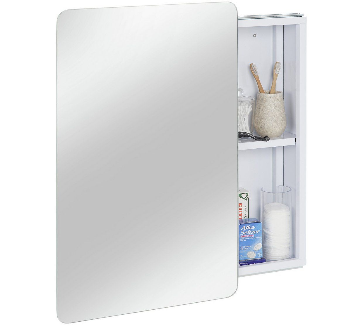 Buy Hygena Sliding Door Mirrored Bathroom Cabinet White