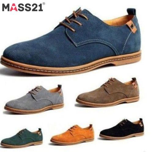 Cuero Gamuza Para Hombre Zapatos Con Cordones Casual Zapatos