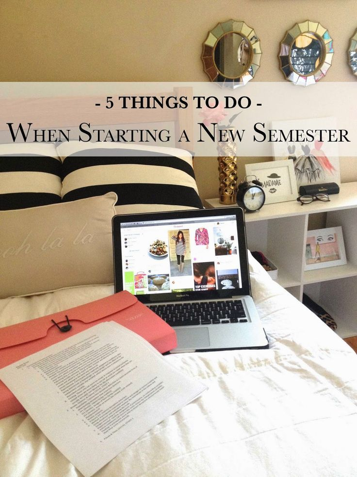How To Organize Yourself For A New Semester Studying With