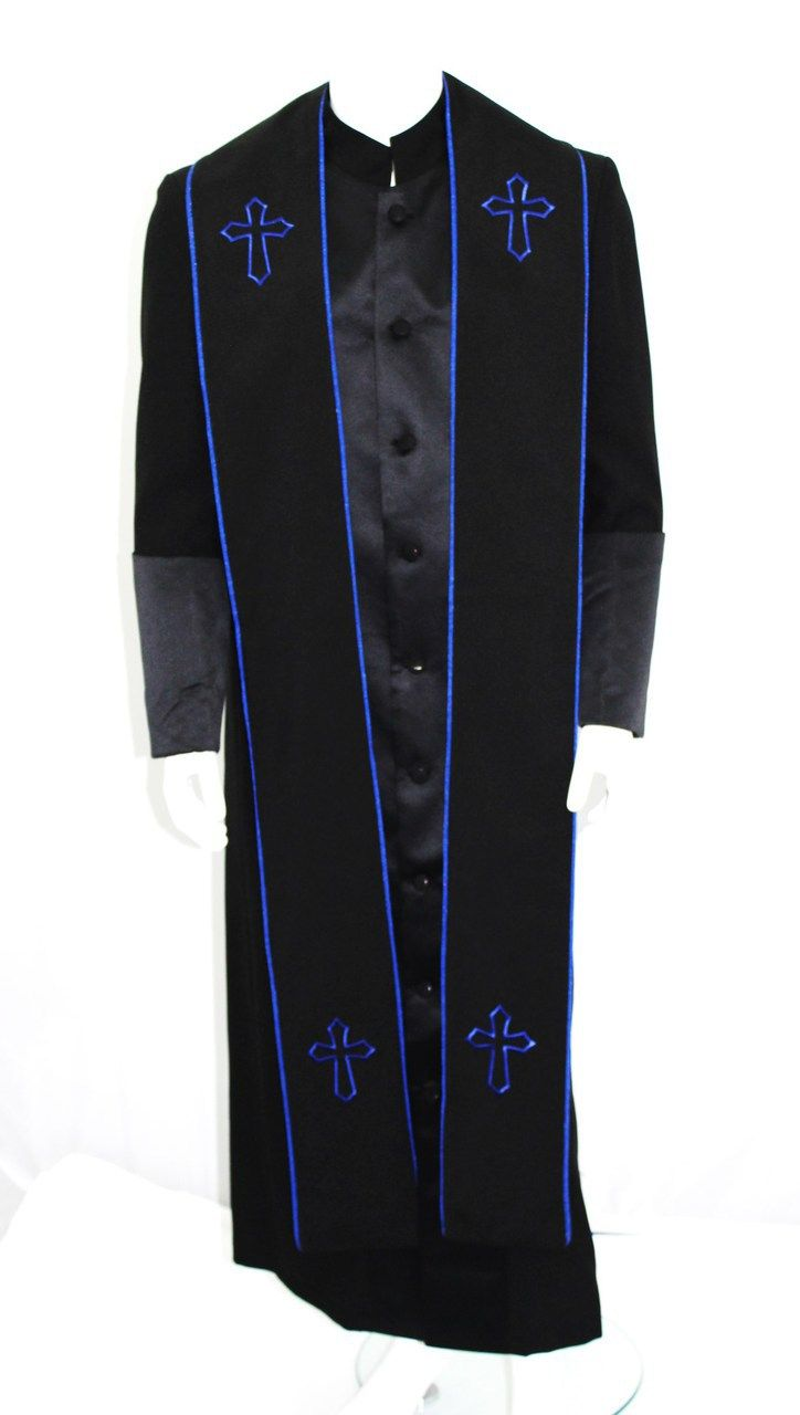 Clergy Robe In Royal And White For Men Divinity Clergy