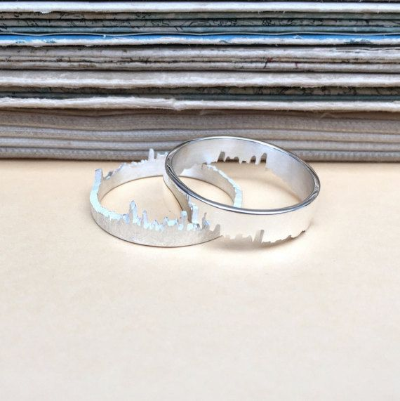 Personalised Silver City Skyline Ring by HannahLouiseLamb on Etsy
