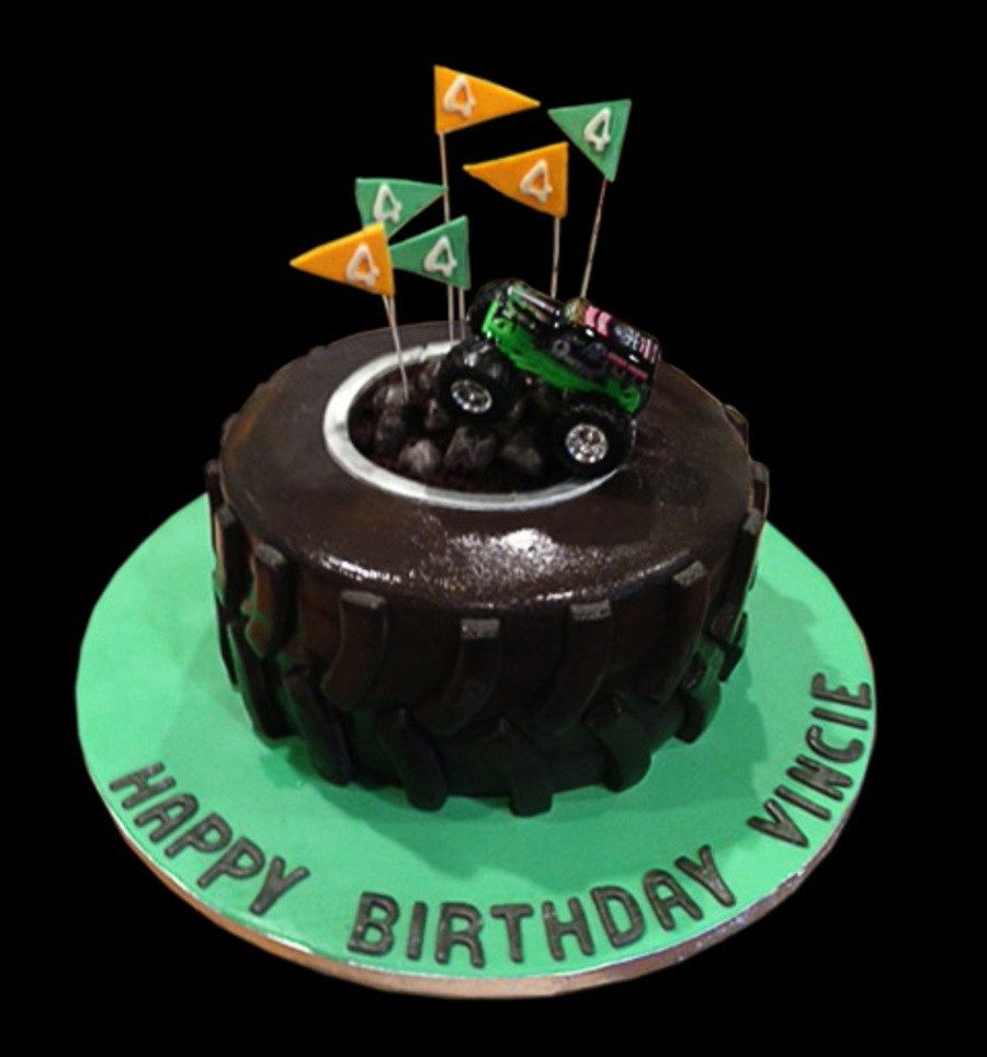 32 Best Photo Of Monster Truck Birthday Cake