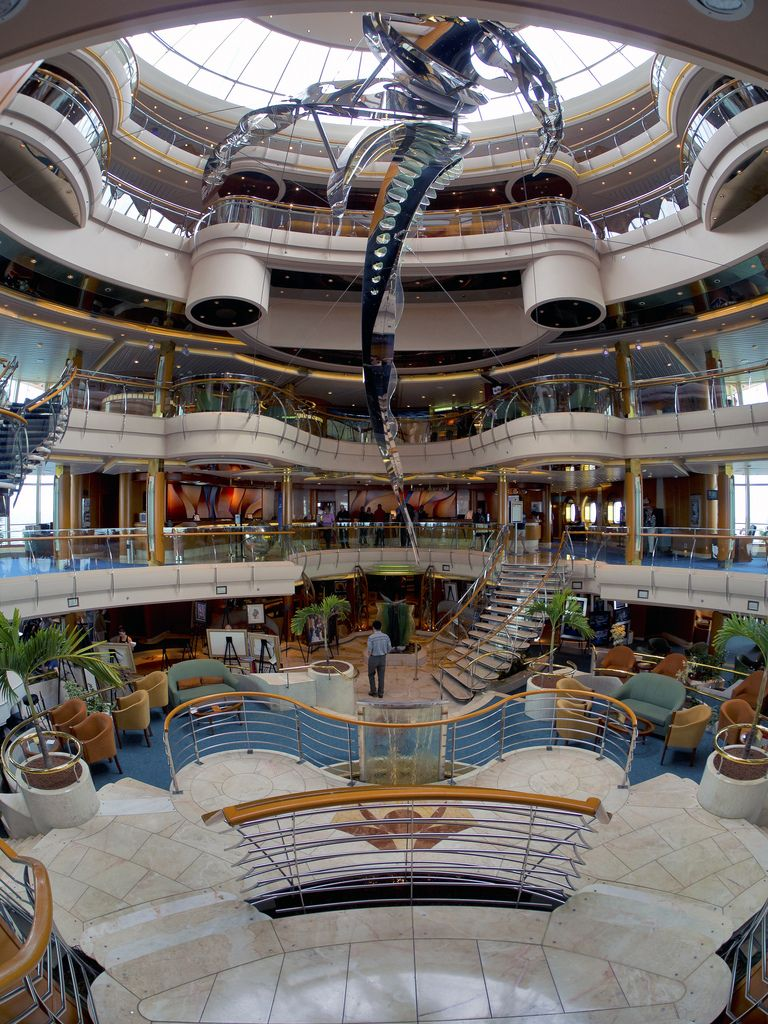Inside The Atrium Of Royal Caribbeans Vision Of The Seas Http Www Cruisekings Co Uk Cruise Line Cruise Ships Interior Royal Caribbean Cruise Ship Cruise Ship