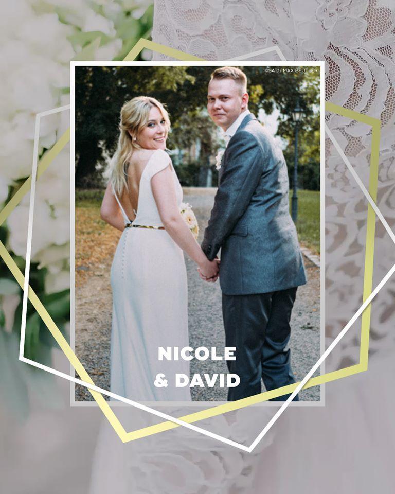 Hochzeit Auf Den Ersten Blick Schlicht Und Elegant Sollte Das Kleid Von Nicole Sein Wir Haben Ein Modell Von Hochzeit Auf Den Ersten Blick Jesus Peiro Braut