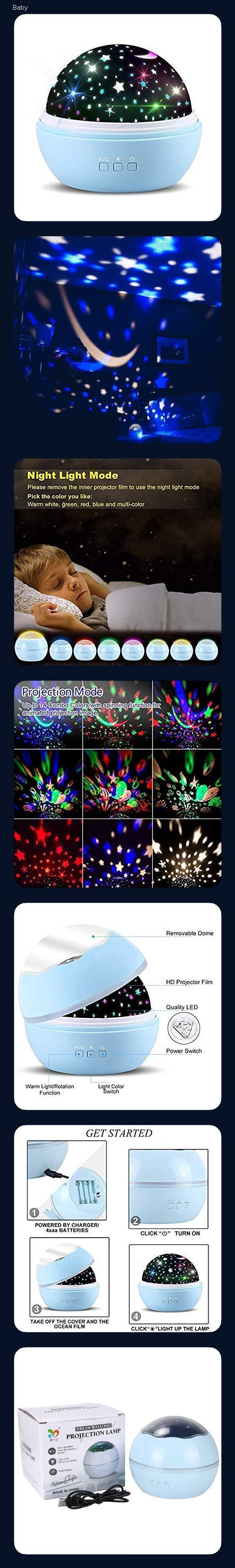 Tofoco Sp 1i Sternenhimmel Projektor Nachtlicht Lampe Mit 360 Drehfunktion Bunt Stern Und Ozean Projektions Sternenhimmel Nachtlicht Sternen Himmel