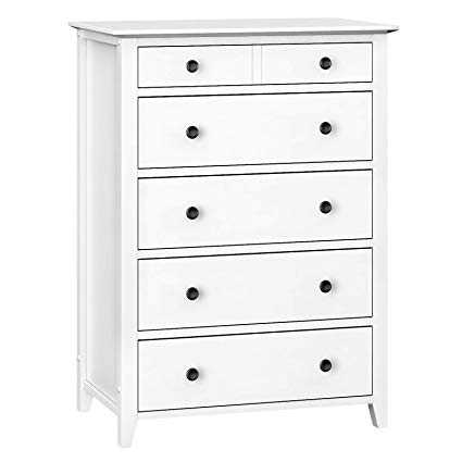 Vasagle Chest Of Drawers 5 Drawer Dresser With Solid Wood Frame Storage Unit For The Bedroom Living Roo Dresser Dresser Drawers 5 Drawer Dresser