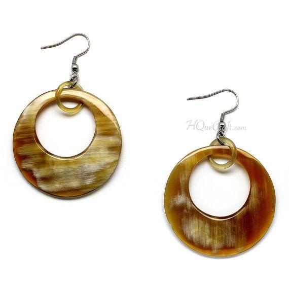 Horn Earrings - ND10032 | $5.80 USD | Handmade item Materials: buffalo horn, horn.