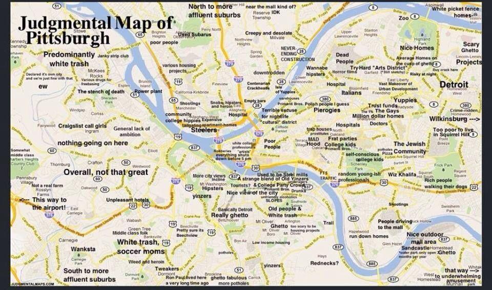 Pittsburg, PA | Pittsburgh, PA | Pittsburgh map, Pittsburgh ...