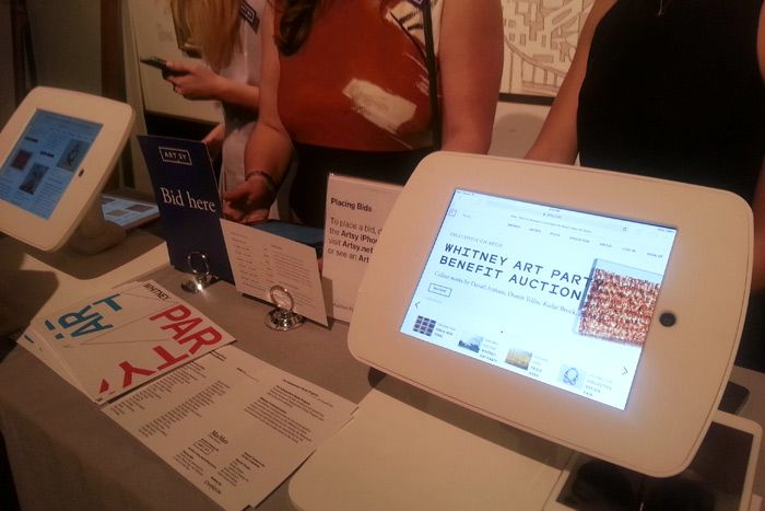 Online platform Artsy hosted the silent auction for the Whitney\u0027s
