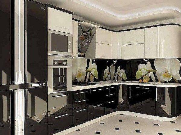 Hermosa cocina en blanco y negro – imágenes de decoración del ...