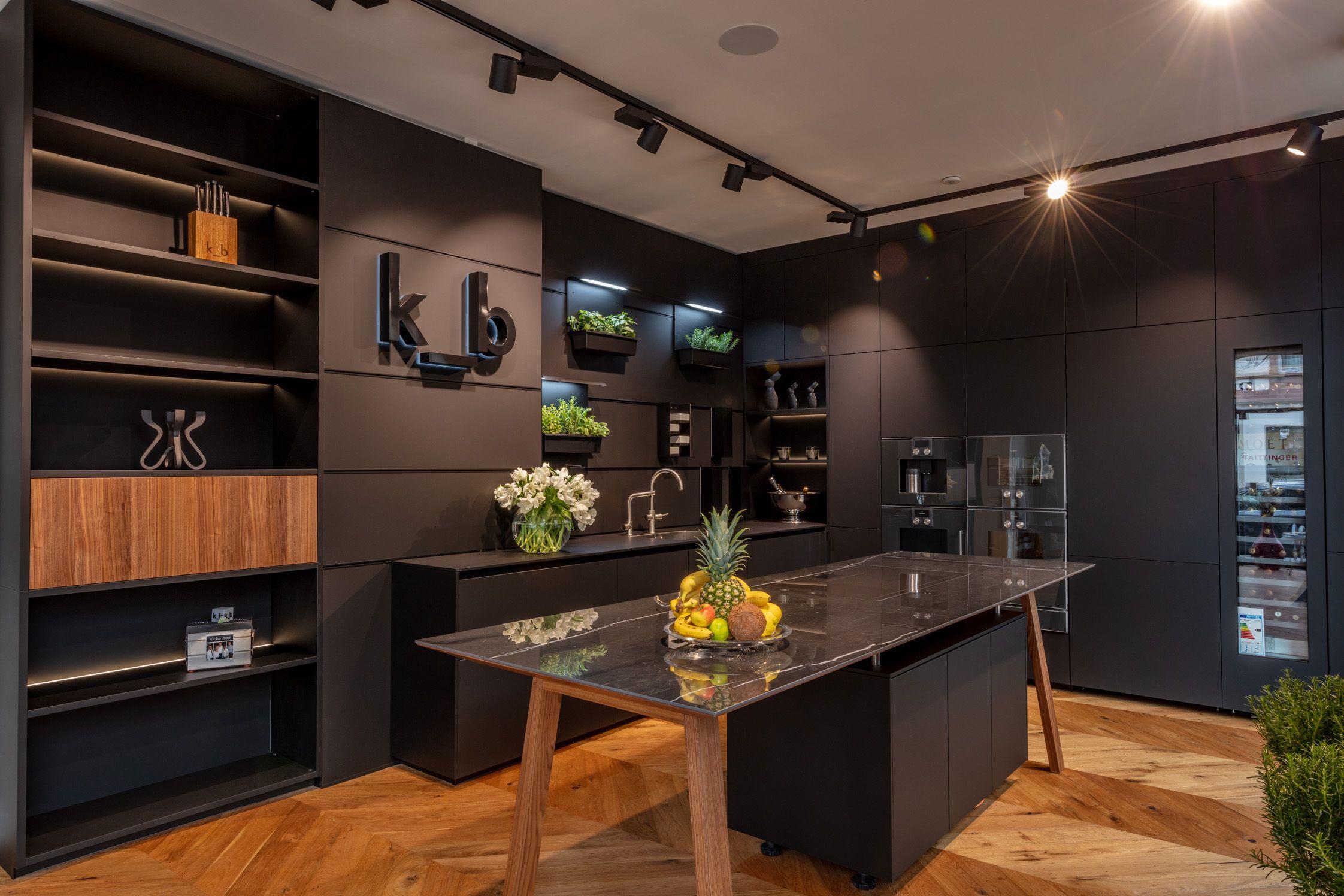 schwarze küche | küche schwarz, küche block, einbauküche