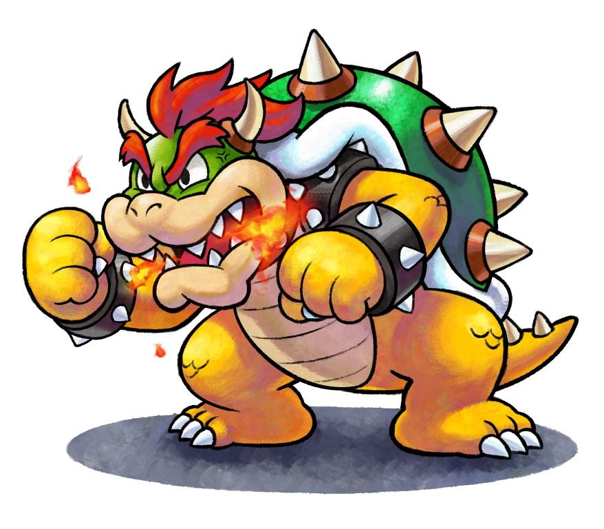 Bowser Mario Luigi Paper Jam Mario Art Mario Bowser