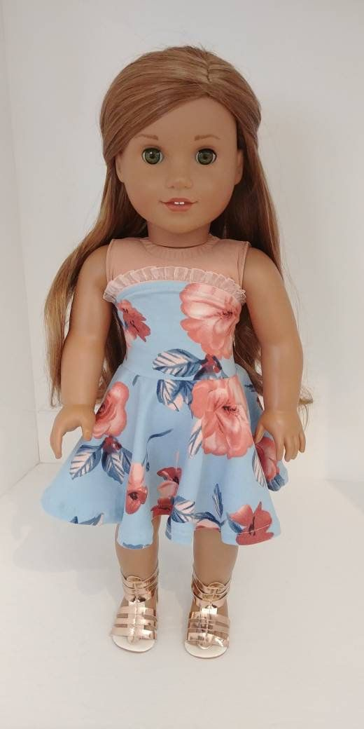 Fits like American girl doll clothing. 18 inch doll clothes. 18 inch doll clothing. Strapless dress