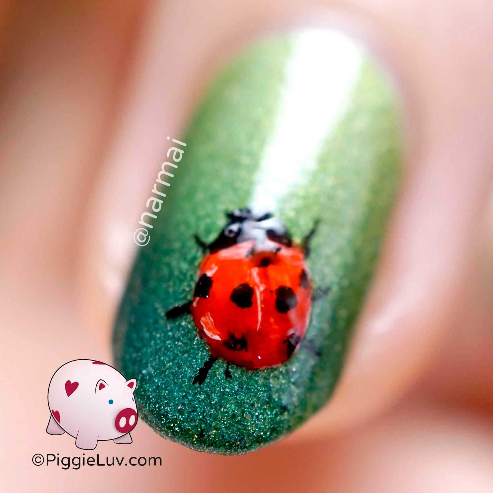 Freehand ladybug nail art | Pinterest | Ladybug nail art, Fast nail ...