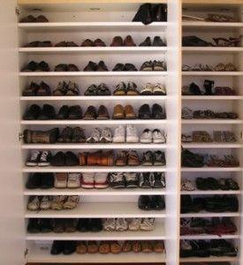 Garage Cabinet Shoe Storage Make Place For Backpacks Above