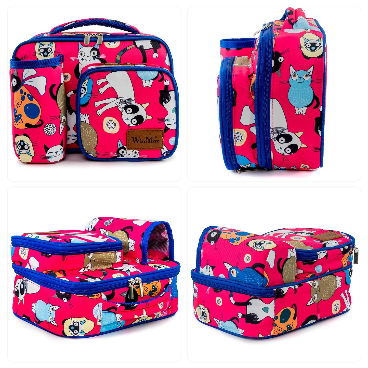 49f7c7236b5f Winmax Kids Lunch Bag, Insulated Lunch Box, Small Cooler Bag with ...