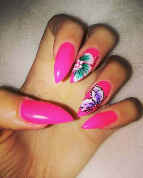 50 Beautiful Stylish And Trendy Nail Art Designs For: Unique Butterfly Nail Designs 2018