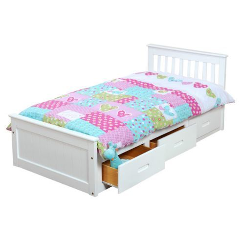 Amani Pine Mission Single Storage Bed Frame